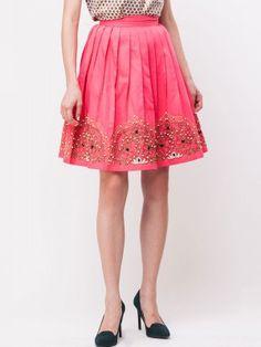 84c328d9c KOOVS Embellished Pearl Edged Midi Skirt Buy Skirts Online, Dressed To  Kill, Midi Skirt