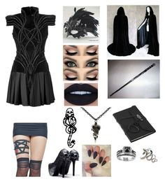 """Death Eater"" by lyrick-rose on Polyvore featuring Metal Couture, mark. and MAXIME SIMOENS"