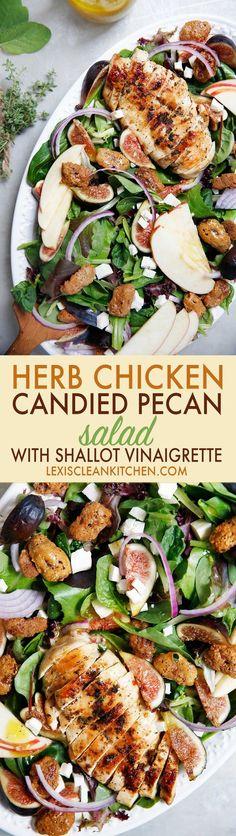 Herb Chicken Candied-Pecan Salad | Lexi's Clean Kitchen