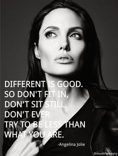 Inspirational Quote from Angelina Quote | Visual Therapy. Cheers to #healthandfitness