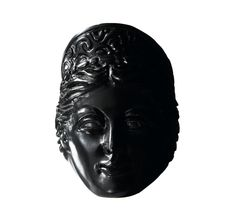 Very large ring of an «Antique style woman face with a plain turban», made out of molten onyx. #MurielGrateau #jewellery