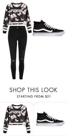 """Untitled #38"" by nottaphanboii on Polyvore featuring WithChic, Vans and River Island"