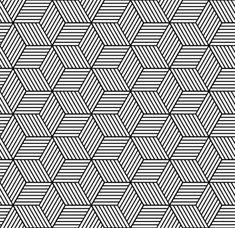 Seamless geometric pattern with cubes lizenzfreie Stock-Vektorgrafik Geometric Patterns, Doodle Patterns, Geometric Designs, Geometric Art, Blackwork, Cubes, Tessellation Patterns, Graph Paper Art, Colossal Art