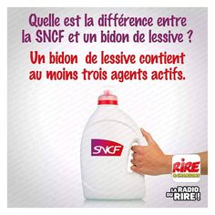 Difference between SNCF and laundry in a can, - Satire Humor, Funny French, Funny Quotes, Funny Memes, Image Fun, Wtf Funny, Hilarious, Anime Manga, Dumb And Dumber