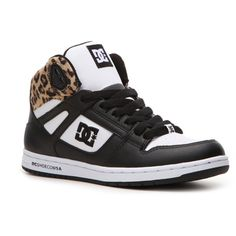 timeless design b7263 b9d8c DC Women s Rebound Hi Sneaker - Black White Leopard Print.. Def needs