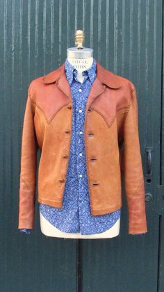NORTH BEACH LEATHER Vintage 70s Jacket 1970's by lovestreetsf