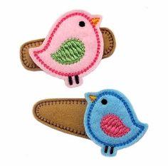 Need to dust off my machine:  Birdie FELT STITCHIES (in the hoop)