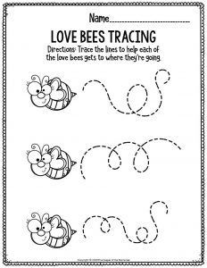 Preschool teachers and homeschool mamas will for sure love these no prep fine motor Valentine's Day preschool worksheets! They're quick & easy and little kids love the fun cutting and tracing, coloring, and drawing activities. Sensory Activities Toddlers, Kids Learning Activities, Educational Activities, Teaching Ideas, Preschool Printables, Preschool Worksheets, Tracing Worksheets, Preschool Garden, Toddler Preschool