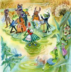 Просмотреть иллюстрацию Иллюстрация 3 из сообщества русскоязычных художников автора Закревская-Аникина Наталия в стилях: Книжная графика, нарисованная техниками: Акварель, Гуашь.