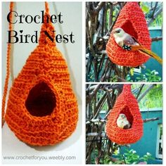 Crochet Birds Nest - I saw these @Kellie Ker and thought they could also make cool cat hammocks for katies cat enclosure!