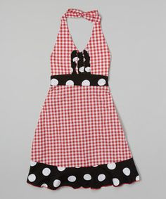 Another great find on #zulily! Red Gingham Halter Dress - Infant, Toddler & Girls by Corky's Kids #zulilyfinds