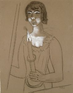 Max Beckmann, Woman with Candle (Frau mit Kerze), 1928