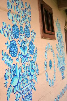 Blue, blue but funny:-). Painted village - Zalipie (South of Poland)
