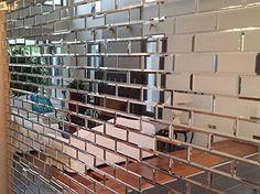 MY-Furniture Piastrelle a specchio smussate color Argento per il muro - a forma/dimensioni di mattone - ideali per la cucina e il bagno: Amazon.it: Fai da te