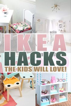 ikea hacks Hi there! Are you a lover of IKEA HACKS? well then you are going to adore these IKEA Hacks the Kids Will LOVE! From Lego Tables to Play Stoves to Doll Houses. Ikea Hack Kids Bedroom, Ikea Closet Hack, Ikea Kids Room, Ikea Toddler Room, Ikea Kids Table, Ikea Playroom, Modern Playroom, Colorful Playroom, Playroom Storage