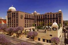 Exterior view of the Sheraton Pretoria Hotel. Quote & Book http://www.south-african-hotels.com/hotels/sheraton-pretoria-hotel-and-towers/