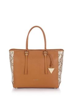 Lady Luxe Python Print Carryall Bag by Guess