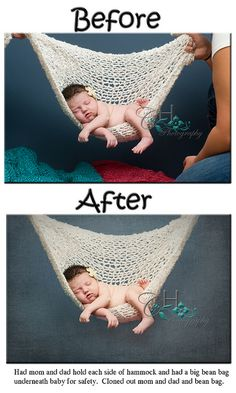 newborn before & after