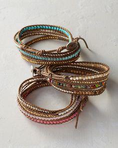 Chan Luu Nugget and Gemstone Wrap Bracelet