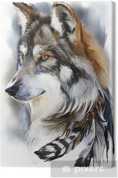 Tattoo Ideas Wolf Spirit Animal 34 Ideas For 2019 Wolf Tattoo Design, 3d Wolf Tattoo, Wolf Design, Tattoo Designs, Anime Wolf, Animal Paintings, Animal Drawings, Wolf Drawings, Drawing Animals