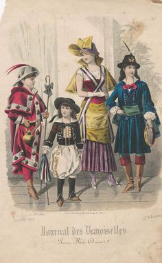 Compostela pilgrim and other fancy dress costumes Jan. 1882