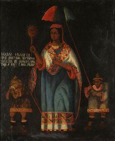 Mama Huaco (Siglo XIX) Autor:Anónimo Técnica: Oleo  Objeto: Pintura Estilo: Costumbrismo Medidas: 51 x 43 Cm