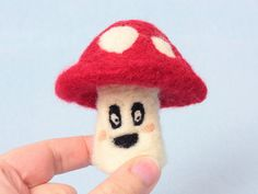 Red spotted mushroom gift. Handmade from needle felted wool.  The well recognised red and white mushroom is called Fly Agaric (amanita muscaria)