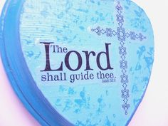 Super adorable #religiousdecor https://www.etsy.com/listing/186778422/heart-shaped-scripture-art-turquoise-and