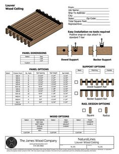 Product Drawings — The James Wood Company Wood Slat Ceiling, Wood Slat Wall, Wooden Ceilings, Wood Slats, Wood Paneling, Ceiling Detail, Ceiling Design, Plafond Design, Timber Walls