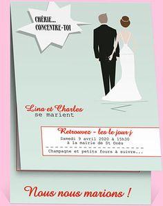 faire part mariage rf n50135 chez monfairepartcom - Faire Part Mariage Humoristique