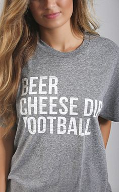 beer cheese dip football tee