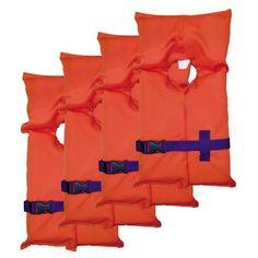 Stearns Adult Type II PFD Orange, Carry Bag, Per 4 – American Back Road Designs