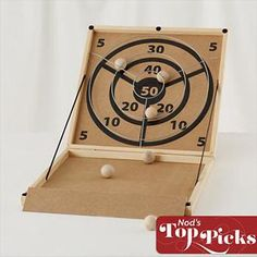 Kids Games: Portable Skeeball Game in All Toys Woodworking Toys, Woodworking Projects, All Toys, Kids Toys, Skee Ball, Wood Games, Backyard Games, Outdoor Games, Small Wood Projects