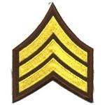 """Get it now  SGT Chevrons - 3"""" Wide - Med Gold on Brown - 1 Pair http://www.wasandnow.com/shop/fashion-2/sgt-chevrons-3-wide-med-gold-on-brown-1-pair/ #FashionHomeMilitaryClothingSGTChevrons3WideMedGoldOnBrown1Pair SGT Chevrons – 3″ Wide – Med Gold on Brown – 1 Pair. These are typically worn on law enforcement and public safety uniforms."""