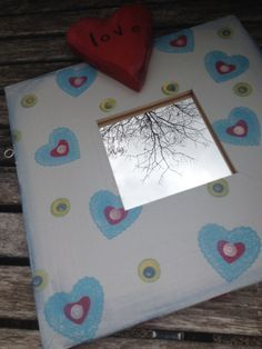 Hand Painted Wood Love Mirror by susbyme on Etsy