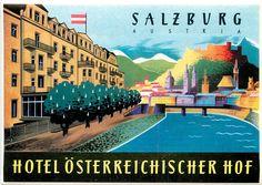 HOTEL OSTERREICHISCHER HOF ~ SALZBURG AUSTRIA