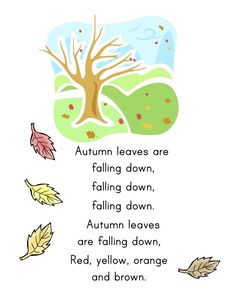 Fall Math & Literacy Lessons for Kindergarten Fall Preschool Activities, Preschool Music, Preschool Lessons, Preschool Learning, Preschool Fall Crafts, Rhyming Activities, Daycare Crafts, Therapy Activities, Circle Time Songs