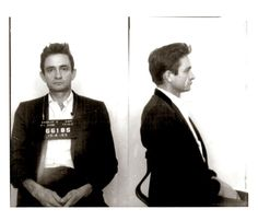 Johnny Cash Photo Gallery: Throughout the late fifties and sixties, Cash's drug and alcohol dependance contributed to the ultimate demise of his first marriage. Despite the fact that Cash earned an outlaw image for his many run-ins with the law, he never spent more than one night in jail.