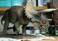 David's Pegasus Triceratops dinosaur model kit.