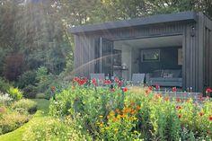 Gallery | Insulated Garden Rooms | Outside In Summer Houses Uk, Summer House Garden, Home And Garden, Larch Cladding, Exterior Cladding, Garden Pavillion, Insulated Garden Room, Sedum Roof, Outdoor Garden Rooms