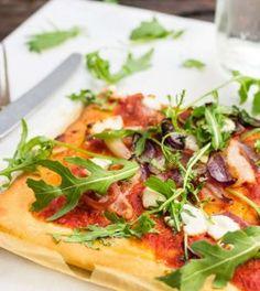 Gezonde pizza maken Pizza Wraps, Cheat Meal, Fodmap, Atkins, Superfood, Vegetable Pizza, Low Carb, Pasta, Favorite Recipes