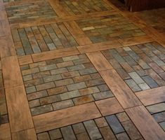 easy woodworking projects for beginners ** Learn more by visiting the End Grain Flooring, Brick Flooring, Diy Flooring, Kitchen Flooring, Unique Flooring, Floor Design, Home Projects, Future House, Diy Home Decor
