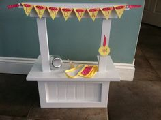 18 Doll LEMONADE STAND fits American Girl w by AGCoutureBedding, $58.00