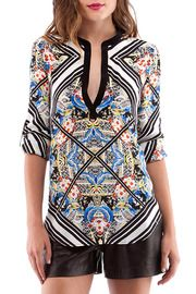 Henley Blouse by Cynthia Vincent Click the picture to buy from us through Shoptiques!