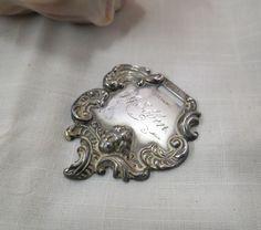 Antique Art Nouveau Watch Fob Victorian by KansasKardsStudio on Etsy