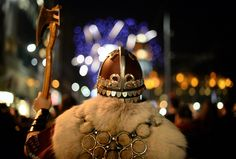A torchlight procession made its way through Edinburgh marking the beginning of Hogmanay, led by Shetland's Up Helly Aa Vikings. Celebration Around The World, New Year Celebration, Months In A Year, New Years Eve, Photographing Fireworks, Up Helly Aa, Shetland, New Year 2014, Highland Games