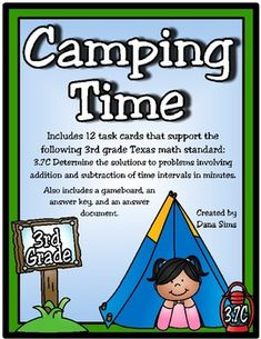 Includes 12 task cards that support the following 3rd grade Texas math standard:3.7C Determine the solutions to problems involving addition and subtraction of time intervals in minutes.Also includes a gameboard, an answer key, and an answer document.