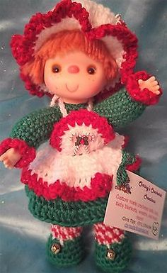 Adorable-Vintage-Style-10-Hand-Crocheted-Doll-Peppermint-Sweetie
