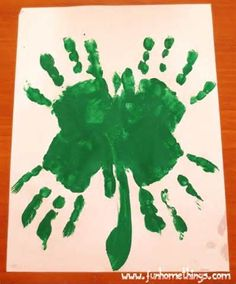 St Patricks Day Crafts Handprint Clover
