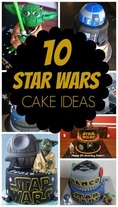 Planning a Star Wars party? Check out these 10 Out of This World Star Wars Cake Ideas on www.prettymyparty.com.